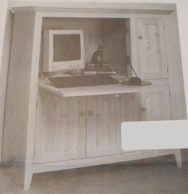 Computer Secretary Desk Vintage Woodworking Plan Woodworkersworkshop
