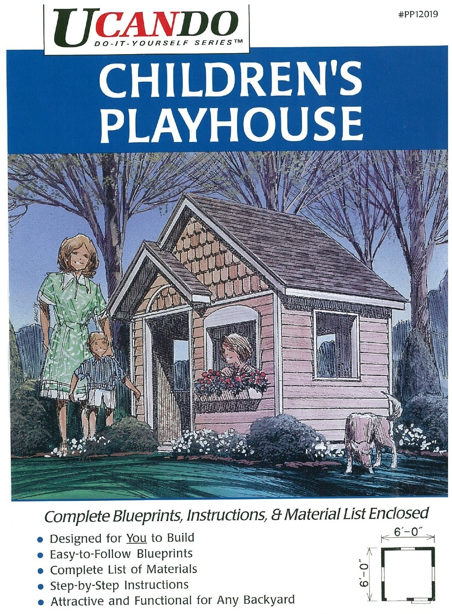 6 x 6 ft Childrens Playhouse Vintage Woodworking Plan