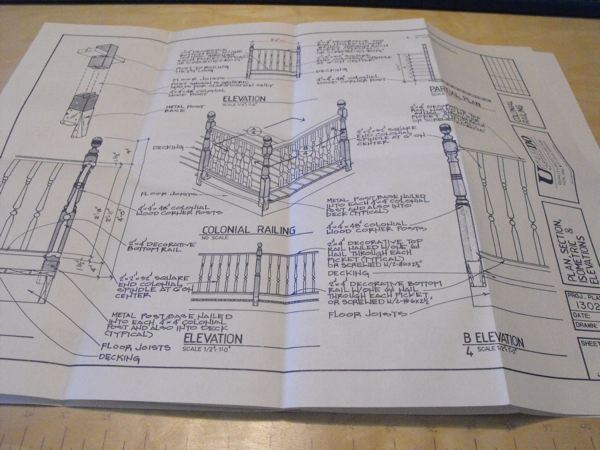 5 Deck Railing Designs Vintage Woodworking Plan Set