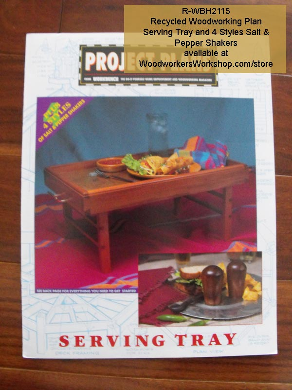 Serving Tray and 4 Salt & Pepper Shakers Vintage Woodworking Plan