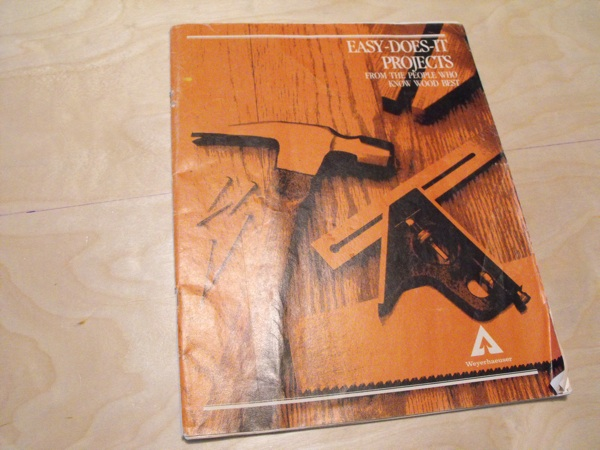 R-WEY-EDIP - Easy Does It Projects Vintage Woodworking Book - 40 projects