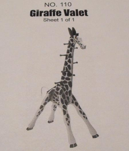 r140110 giraffe clothes tree vintage woodworking plan
