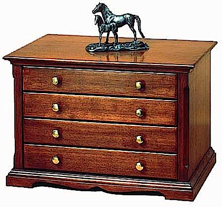 R14-0162 - Accessory Colonial Chest Vintage Woodworking Plan.
