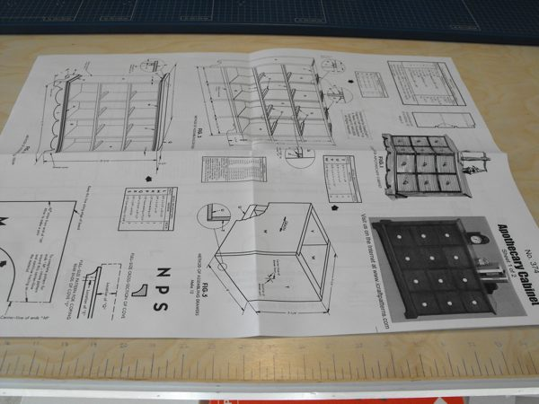 R14-374 - Apothecary Cabinet Vintage Woodworking Plan.