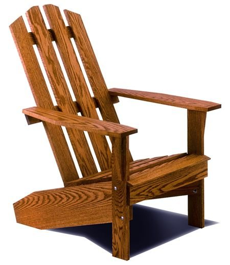 R14-0767 - Adirondack Lawn Chair Vintage Woodworking Plan