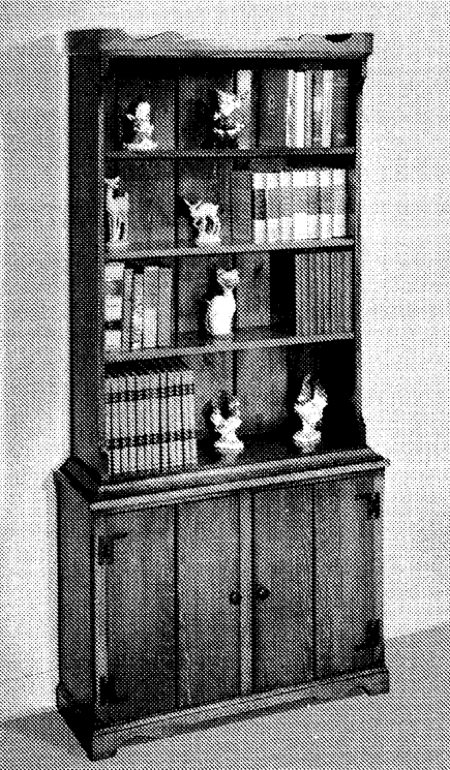 R14-1048 - Colonial Bookcase Vintage Woodworking Plan
