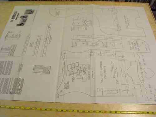 R14-1150 - Childs Table and Chairs Vintage Woodworking Plan.
