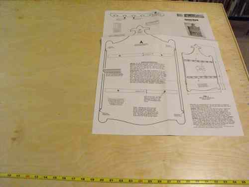 R14-1173 - Spoon Rack Vintage Woodworking Plan.