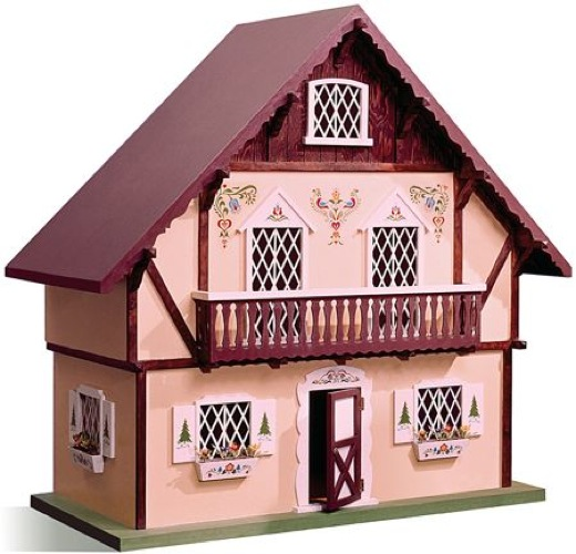 Swiss Dollhouse Chalet Vintage Woodworking Plan.
