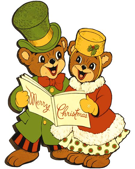 Christmas Bears Vintage Woodworking Plan.