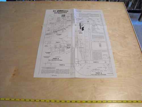 R14-1303 - Wall Mounted Desk Vintage Woodworking Plan.
