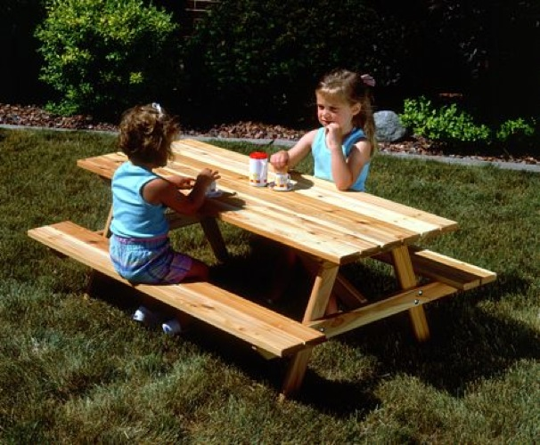 Picnic Table for Children Vintage Woodworking Plan.
