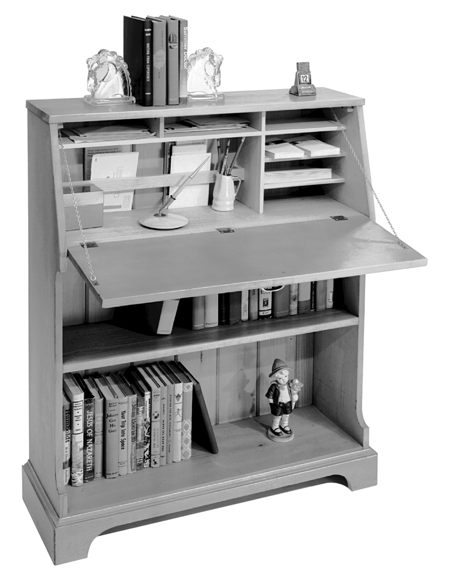 Bookcase Desk Vintage Woodworking Plan