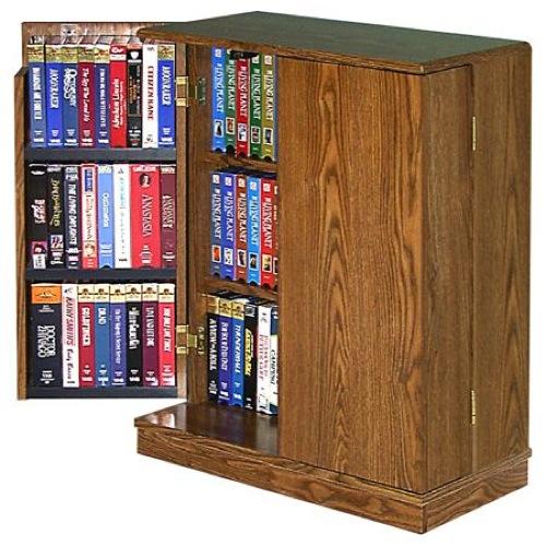 R14-1327 - VCR Video Cassette Storage Cabinet Vintage Woodworking Plan - WoodworkersWorkshop ...