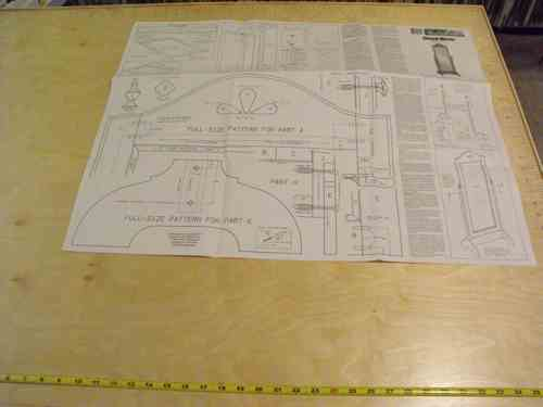R14-1353 - Cheval Tilting Mirror Vintage Woodworking Plan.