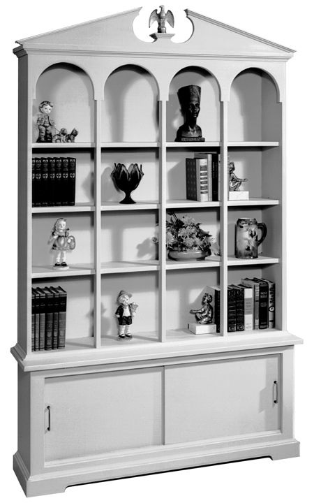 Bookcase Vintage Woodworking Plan.
