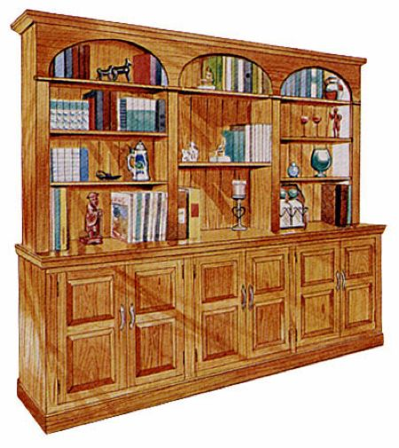Sectional Wall Unit Bookcase Vintage Woodworking Plan