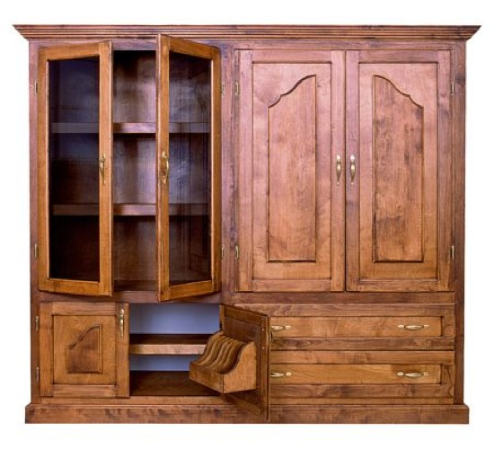 R14-1382 - Entertainment Center Vintage Woodworking Plan