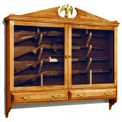 Wall Mounted Gun Cabinet Vintage Woodworking Plan Woodworkersworkshop