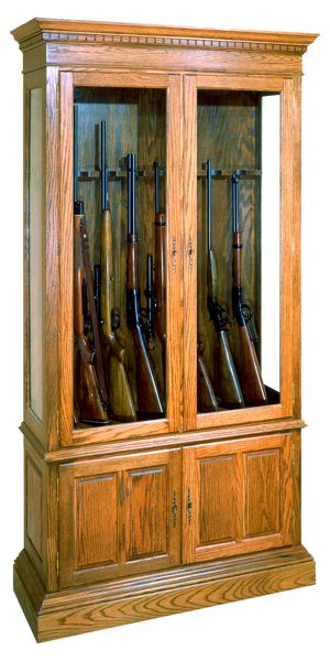 Gun Cabinet Vintage Woodworking Plan.
