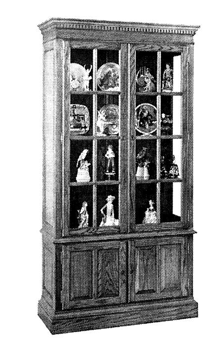 R14-1417 - Curio Cabinet Woodworking Plan.