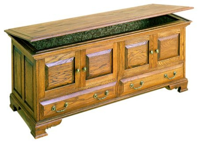 R14-1512 - Hope Chest with drawers Vintage Woodworking Plan