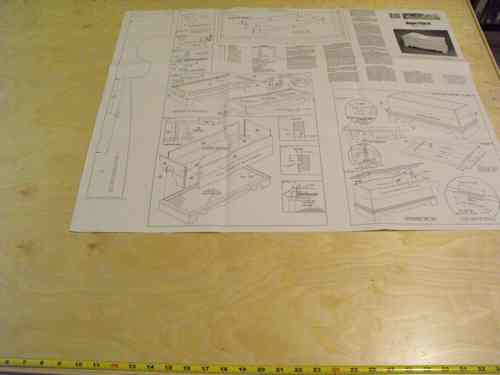 R14-1514 - Hope Chest Vintage Woodworking Plan.