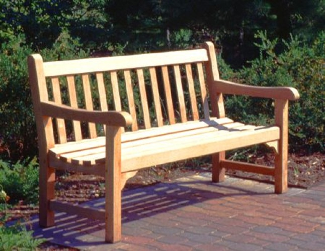 English Park Bench Vintage Woodworking Plan