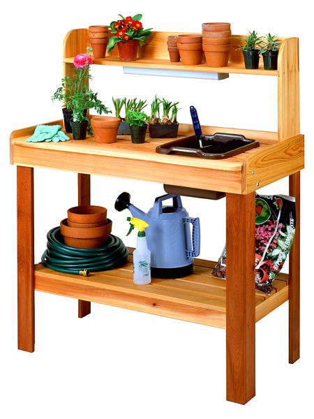 Potting Bench Vintage Woodworking Plan