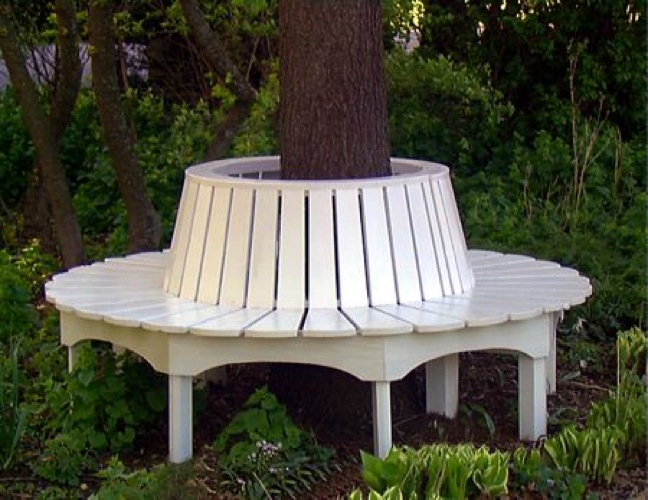 Tree Seat All Round Vintage Woodworking Plan.