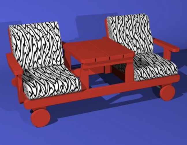 R14-1623 - Outdoor Settee Bench Vintage Woodworking Plan