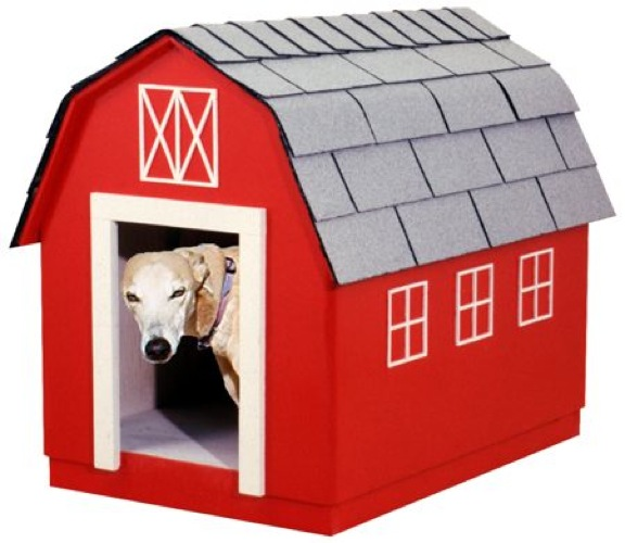 R14-1636 - Barn Style Dog House Vintage Woodworking Plan