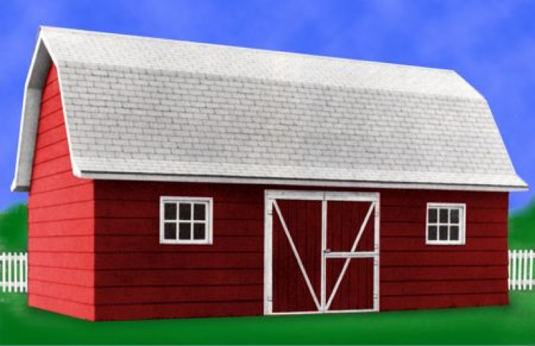 R14-1662 - Barn Building Vintage Construction Plan.