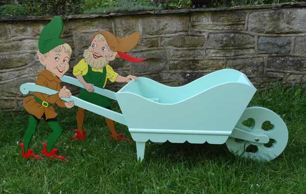 Elves and Barrow Planter Vintage Woodworking Plan.