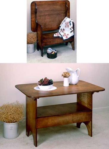 Settle Bench Vintage Woodworking Plan.