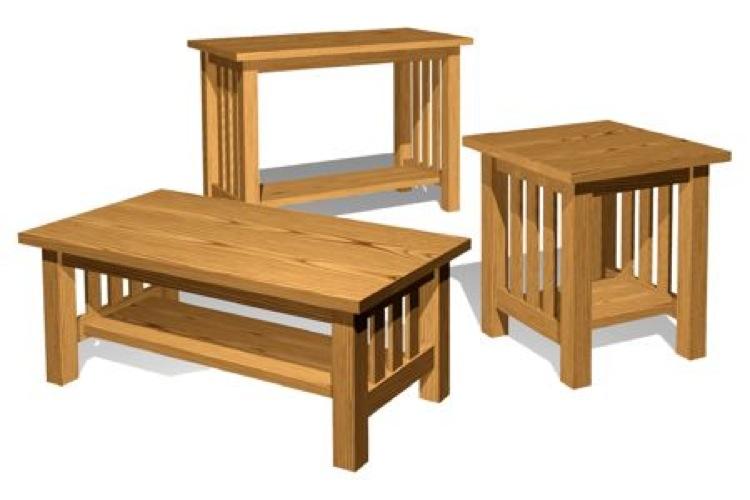 Mission Style Tables Vintage Woodworking Plan Set All 3 Designs Included Woodworkersworkshop