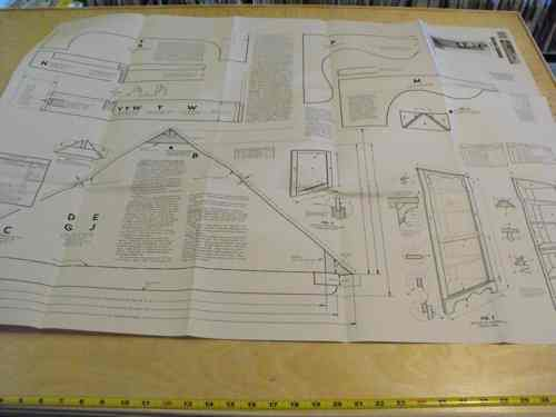 Corner Cupboard Cabinet Vintage Woodworking Plan