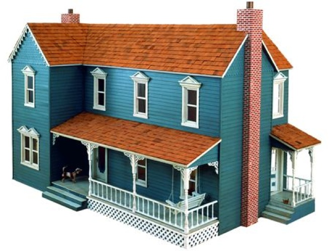 R14 3059 farmhouse dollhouse vintage woodworking plan for Plan victorian dollhouse