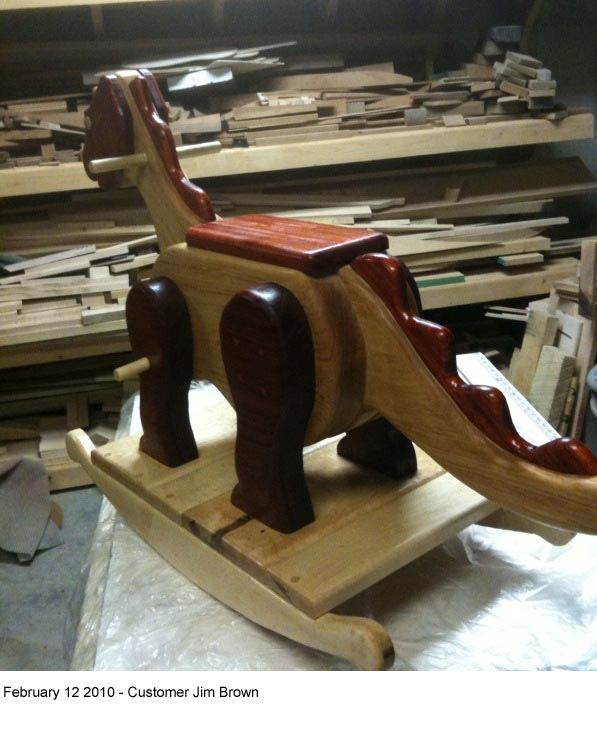 Dinosaur Rocker Vintage Woodworking Plan