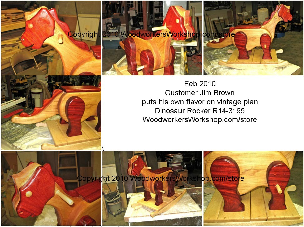 R14-3195 - Dinosaur Rocker Vintage Woodworking Plan