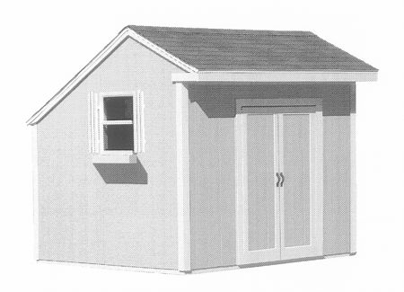 Shed Saltbox style Construction Plan.