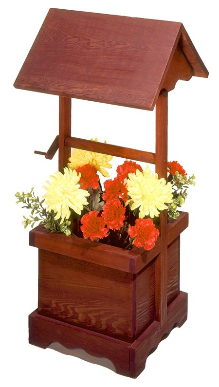 Wishing Well Planter Vintage Woodworking Plan.