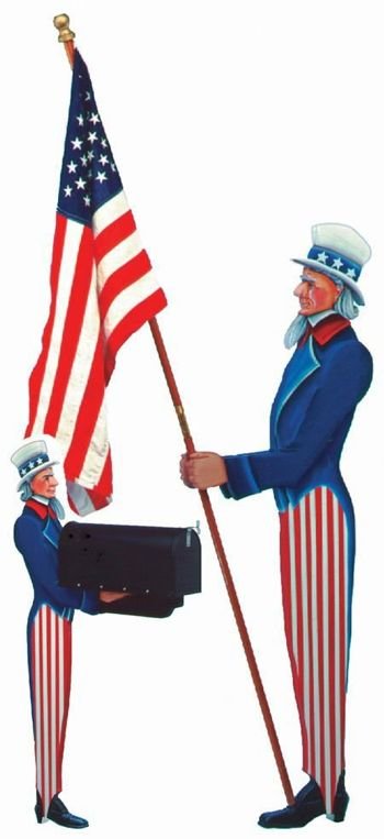 Uncle Sam Vintage Woodworking Plan.