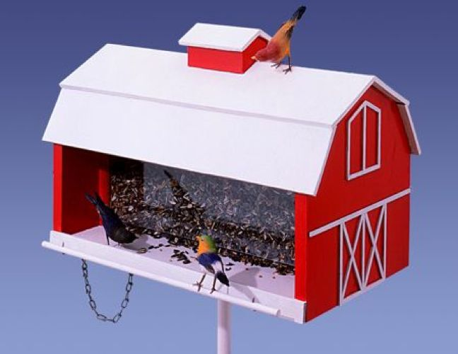 Barn Bird Feeder Vintage Woodworking Plan.
