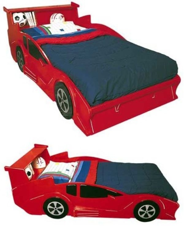 Race Car Bed Vintage Woodworking Plan.
