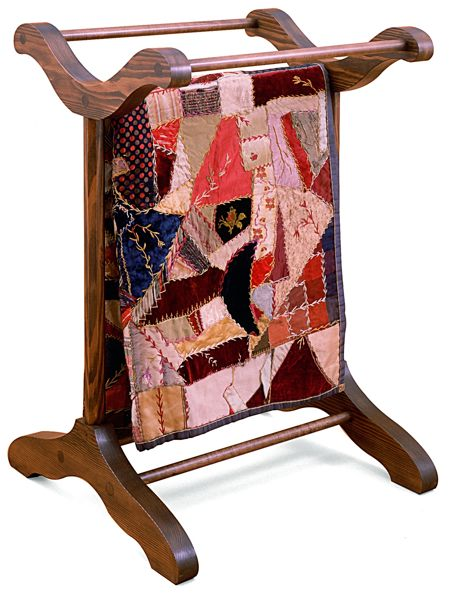 Quilt Rack Vintage Woodworking Plan.