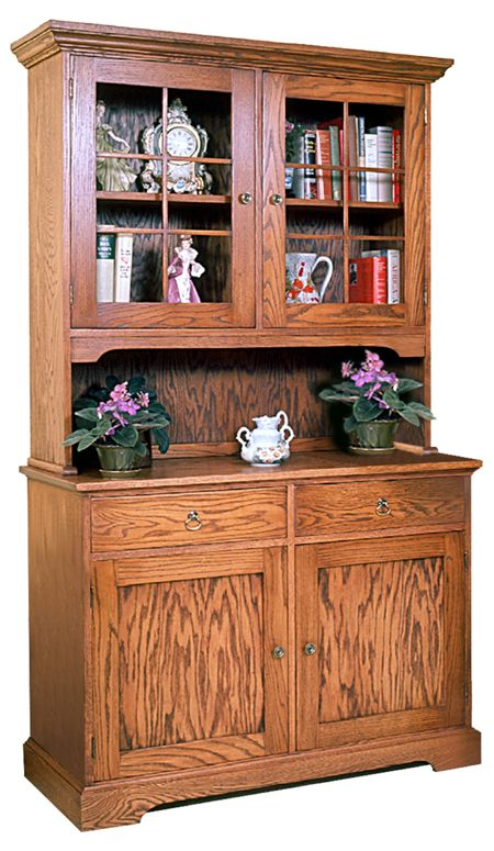 R14-993 - Hutch and Bookcase Vintage Woodworking Plan