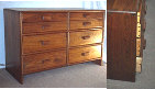 01-302 - Clario Walnut Dresser Cabinet Woodworking Plan