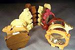 fee plans woodworking resource from WoodworkersWorkshop Online Store - woodworking,plans,projects,scrollsawing,scrollsawn,scrolling,2 in 1 patterns package,pigs,whales,snails,bears,squirrels,piggy