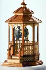 Gazebo Mantel Clock Woodworking Plan
